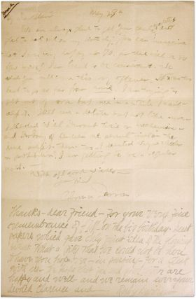 Autograph Letter, Signed, With Long Postcript by Ruby Darrow, Signed.