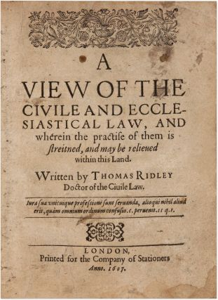 A View of the Civile and Ecclesiastical Law, And Wherein the...