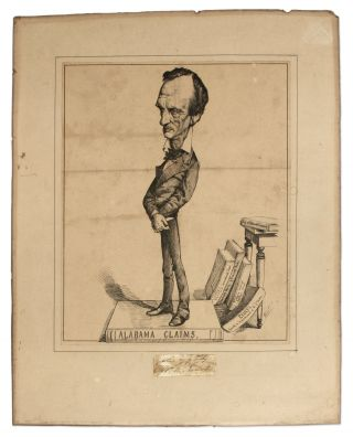 Woodcut Caricature of Evarts, c 1872. William M. Evarts