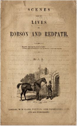 Scenes from the Lives of Robson and Redpath. London, 1857.