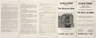 $15,900.00 Reward!, Read This Story of a Terrible Crime, Train Hold...