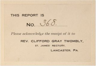 A Report on Vice Conditions in the City of Lancaster, PA [With] A 2nd.