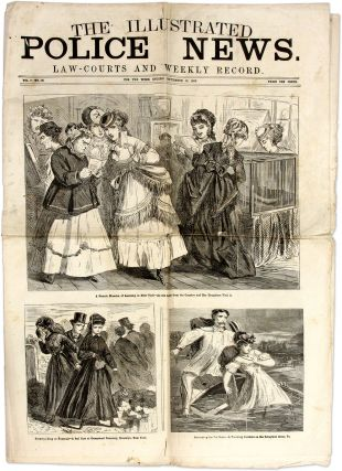 The Illustrated Police News, Law-Courts and Weekly Record. 1869. Crime, Vice, United States