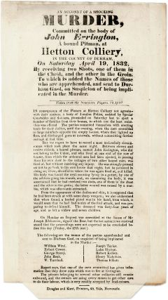 An Account of the Shocking Murder, Committed on the Body of John. Broadside, Murder, Great Britain