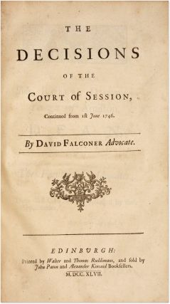 The Decisions of the Court of Session, From the Month of November...