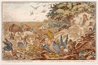 A Great Stream from a Petty Fountain, Or, John Bull Swamped in the. James Gillray