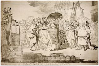 A Sale of English-Beauties, In the East Indies, London, 1786. James Gillray