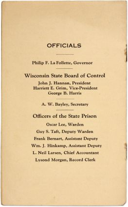 A Little Souvenir of the Wisconsin State Prison, Waupun Wis.