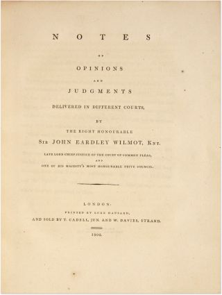 Memoirs of the Life of the Right Honourable Sir John Earley Wilmot.