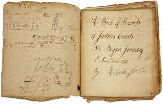 A Book of Records of Justice's Courts. Rhode Island, 1773-1781. Manuscript, Hopkins Cook, Hopkins...