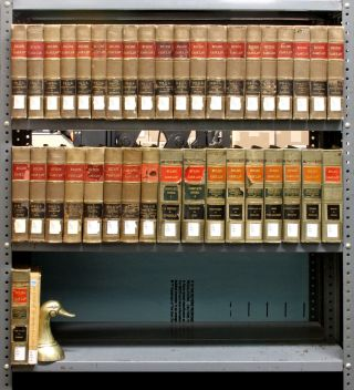 Ruling Case Law. 28 Vols. Index vols. 1-2; 8 Supp. vols. 38 Vols. Edward Thompson Co