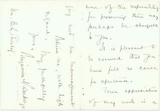 Autograph Letter, Signed, Albany, February 20, 1931.