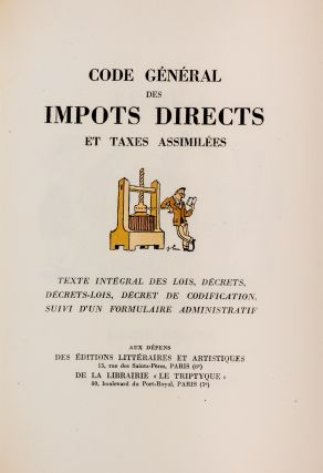 Code General des Impots Directs et Taxes Assimilees, Limited Edition`. Joseph Hemard