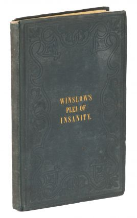The Plea of Insanity, In Criminal Cases. First American Edition