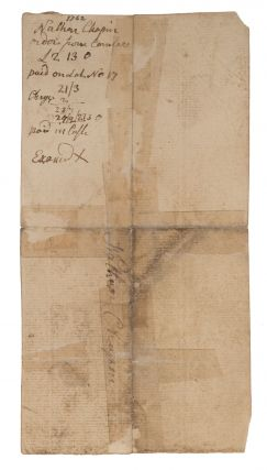 Document Concerning Payment for the Purchase of Law Books, 1762.