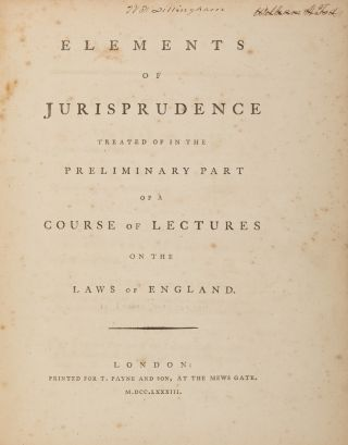 Elements of Jurisprudence [Bound with] Maxims and Rules of Pleading...