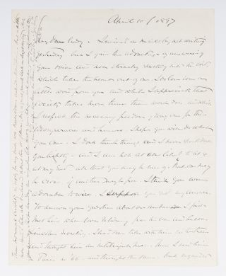 "Autograph Letter Signed (""OWH"") to Lady Clare Castletown, 1897. Oliver Wendell Jr Holmes,..."