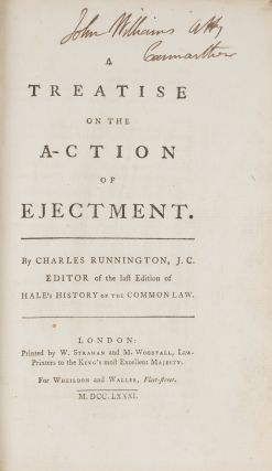 A Treatise on the Action of Ejectment. Second Edition, London, 1781. Charles Runnington