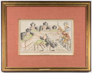 L'Incidente, Color Lithograph, c1900. France, Caricature