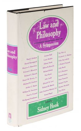 Law and Philosophy: A Symposium. Sidney Hook