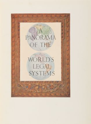 A Panorama of the World's Legal Systems. Signed and Inscribed copy.