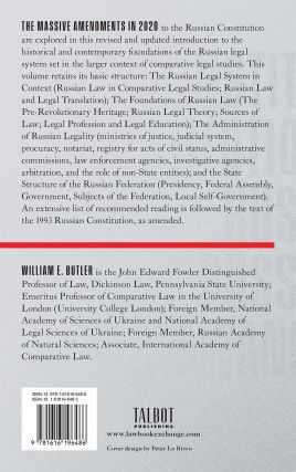 Russian Law and Legal Institutions, Third Edition. 2021.
