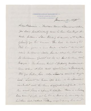 "Autograph Letter Signed ""Yours, OWH"" to Lady Clare Castletown, 1898. Holmes Manuscript, Jr,..."