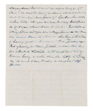 "Autograph Letter Signed ""Yours, OWH"" to Lady Clare Castletown, 1898."