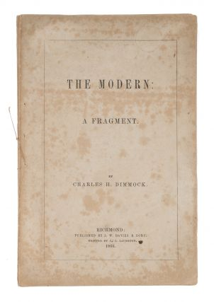 The Modern: A Fragment, Richmond, VA, 1866. Charles Henry Dimmock