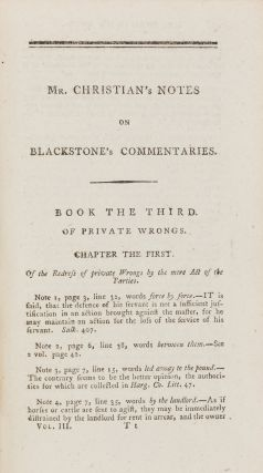 Commentaries on the Laws of England, In Four Books.