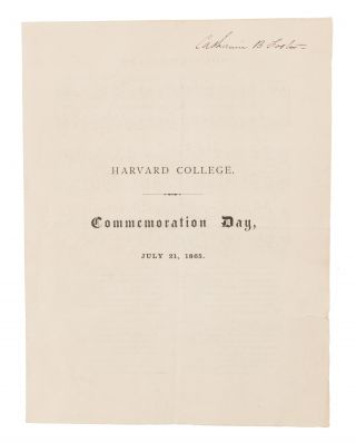 Commemoration Day, July 21, 1865. Harvard College