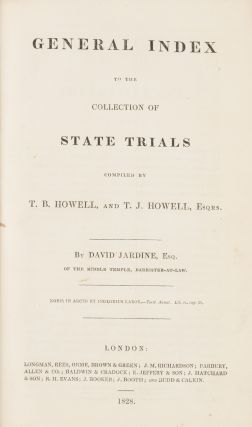 Cobbett's Complete Collection of State Trials. 34 vols. 1809-1828.