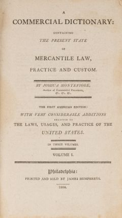 A Commercial Dictionary, Containing the Present State of the...