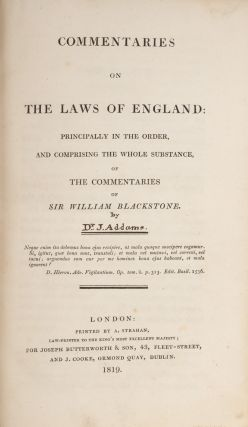 Commentaries on the Laws of England, Principally in the Order, And...