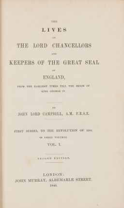 The Lives of the Lord Chancellors. Extra-Illustrated. 8 vols. Complete