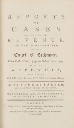 Reports of Cases Concerning the Revenue, Argued and Determined...
