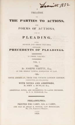A Treatise on the Parties to Actions, The Forms of Actions... 3 vols.