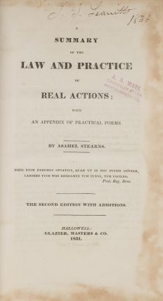 A Summary of the Law and Practice of Real Actions with an Appendix...