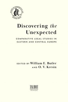 Discovering the Unexpected: Comparative Legal Studies in Eastern...
