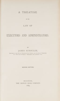 A Treatise on the Law of Executors and Administrators, 2nd ed.