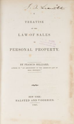A Treatise on the Law of Sales of Personal Property.