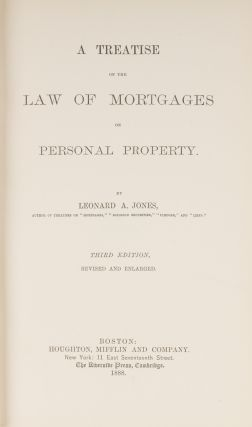 A Treatise on the Law of Mortgages of Personal Property, 3rd ed, 1883.
