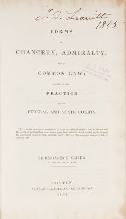 Forms in Chancery, Admiralty, and at Common Law...