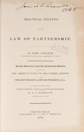 A Practical Treatise on the Law of Partnership, 2nd American Edition.