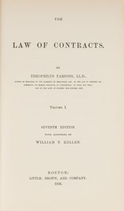 The Law of Contracts, Seventh Edition, With Additions... 3 vols.