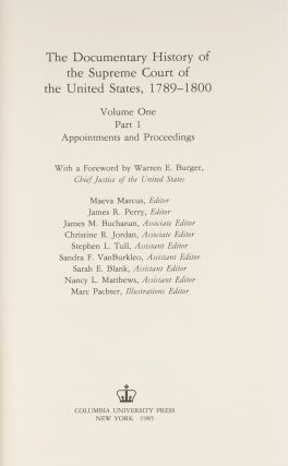 The Documentary History of the Supreme Court of the United States 9 v.