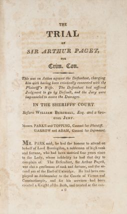 Crim Con œ10,000 Damages Smeeton's Edition of the Trial Between...