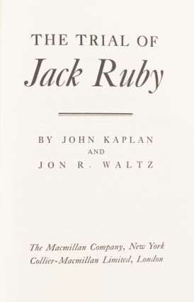 The Trial of Jack Ruby.