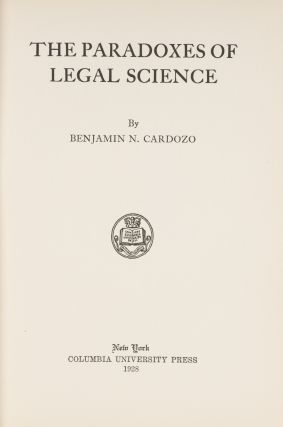 The Paradoxes of Legal Science, Cardozo's Copy.