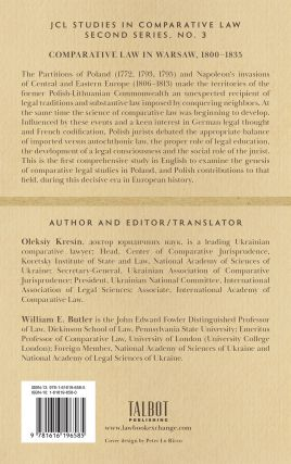 Comparative Law In Warsaw 1800-1835.